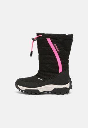 HIMALAYA GIRL - Winter boots - black/fuchsia