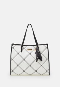 River Island - PADDED EMBROIDERED - Tote bag - white - 0