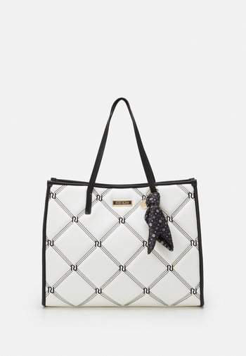 PADDED EMBROIDERED - Tote bag - white