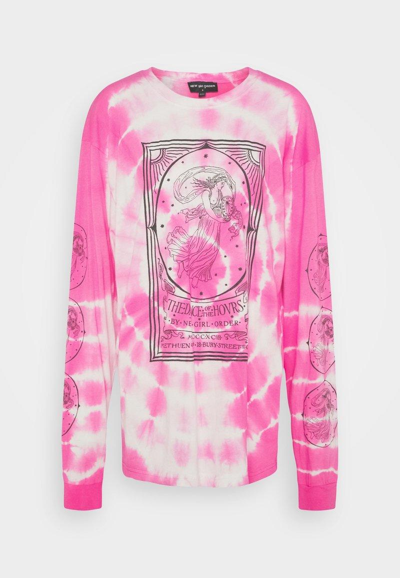 NEW girl ORDER - OPERA LADY TIE DYE TEE - Camiseta de manga larga - pink