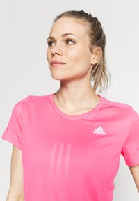 adidas Performance - OWN THE RUN TEE - T-shirts med print - scream pink - 3