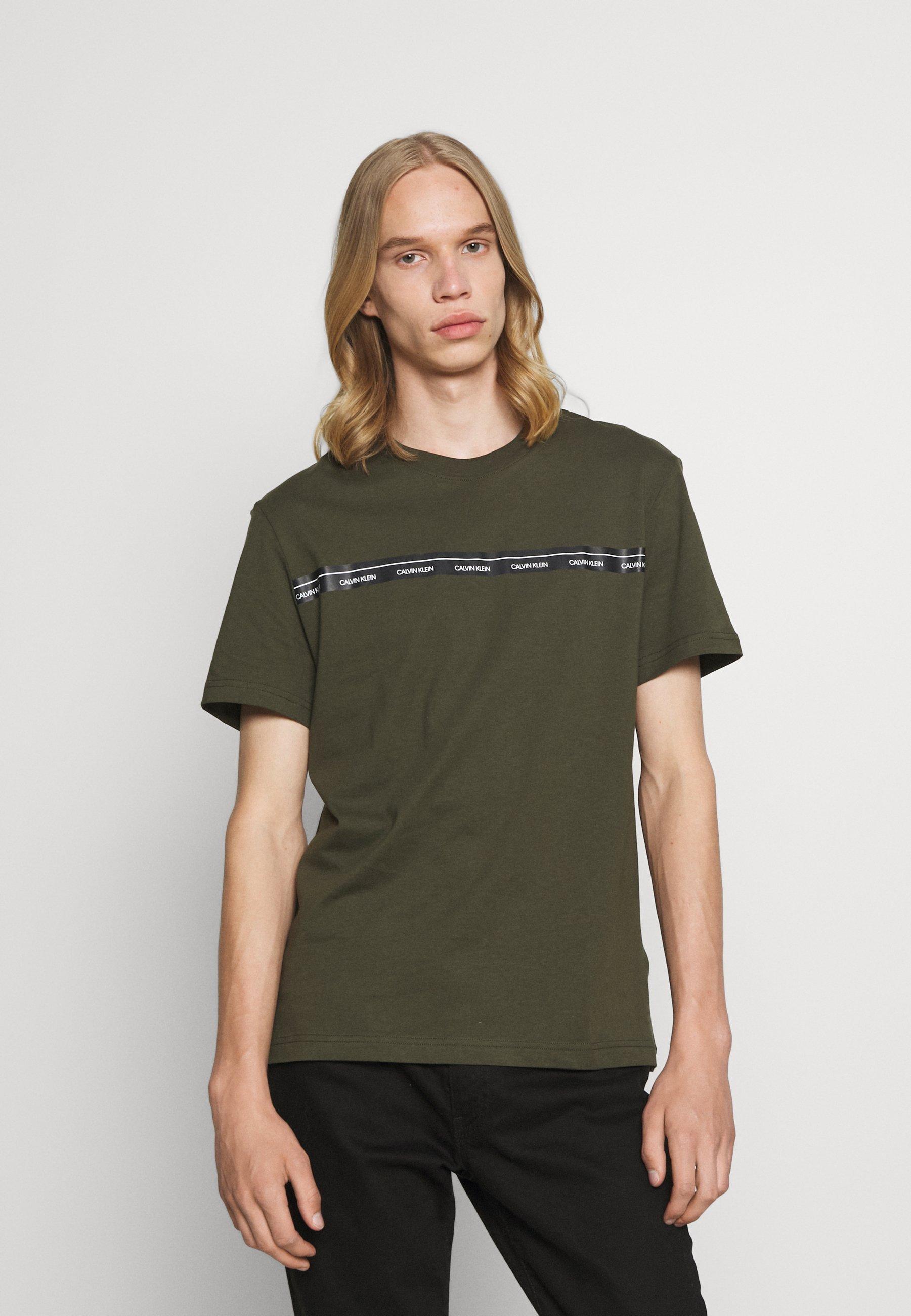 Men LOGO STRIPE - Print T-shirt