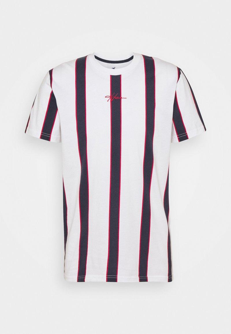 Hollister Co. - CREW - T-shirt med print - red/white/blue