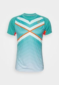 ASICS - TENNIS TEE - Print T-shirt - techno cyan - 3