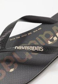 Havaianas - TOP LOGOMANIA UNISEX - Pool shoes - black/white - 5