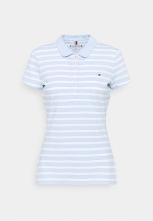 SHORT SLEEVE SLIM STRIPE - Koszulka polo - breezy blue