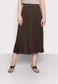someday. - OMYLA - Pleated skirt - chocolate - 0