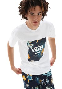 Vans - MN CLASSIC PRINT BOX - Print T-shirt - califas/white - 0