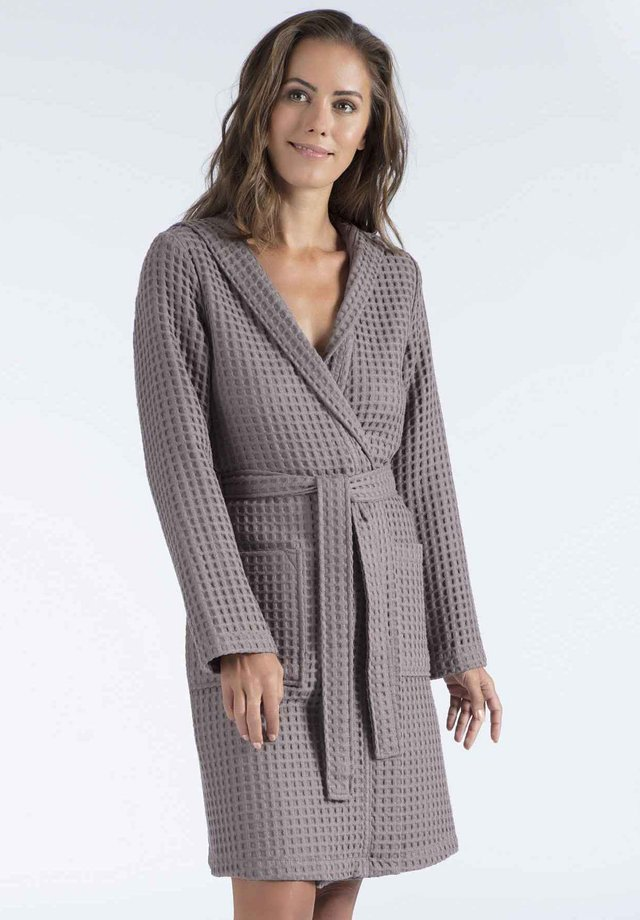 MIT KAPUZE - Dressing gown - brown