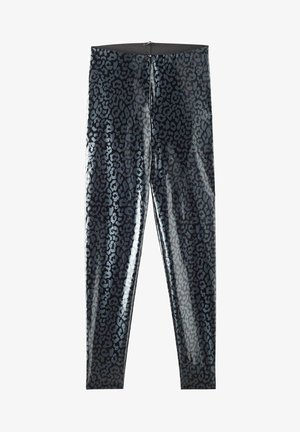 GLÄNZENDE - Leggings - Trousers - nero st.animalier