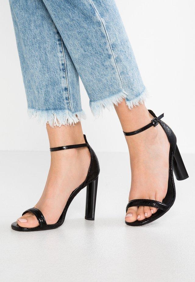 WIDE FIT ROBYN 2 PART - High Heel Sandalette - black