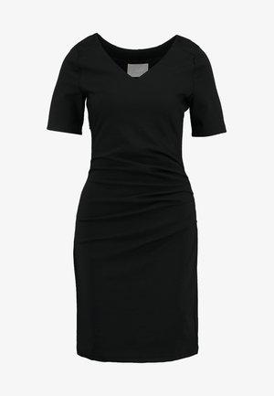INDIA V-NECK - Shift dress - black deep