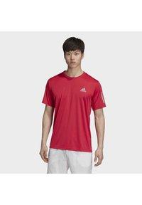 adidas Performance - 3-STRIPES CLUB T-SHIRT - Print T-shirt - pink - 0