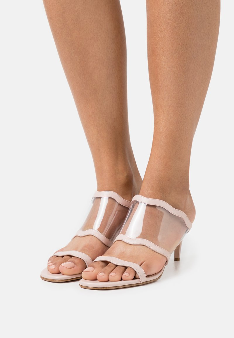 Red V - Pantofle na podpatku - nude/trasparente