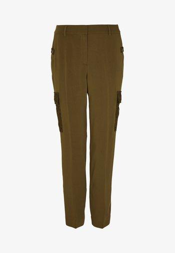 MIT SPITZEN-DETAILS - Trousers - khaki