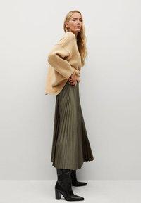 Mango - PLISADO - Spódnica plisowana - kaki - 2