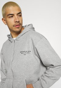 Mennace - SEASON ZIP THROUGH HOODIE - Zip-up hoodie - grey - 3