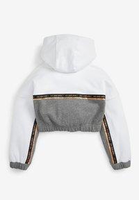 Next - CROP  - Sweat à capuche - white grey - 1