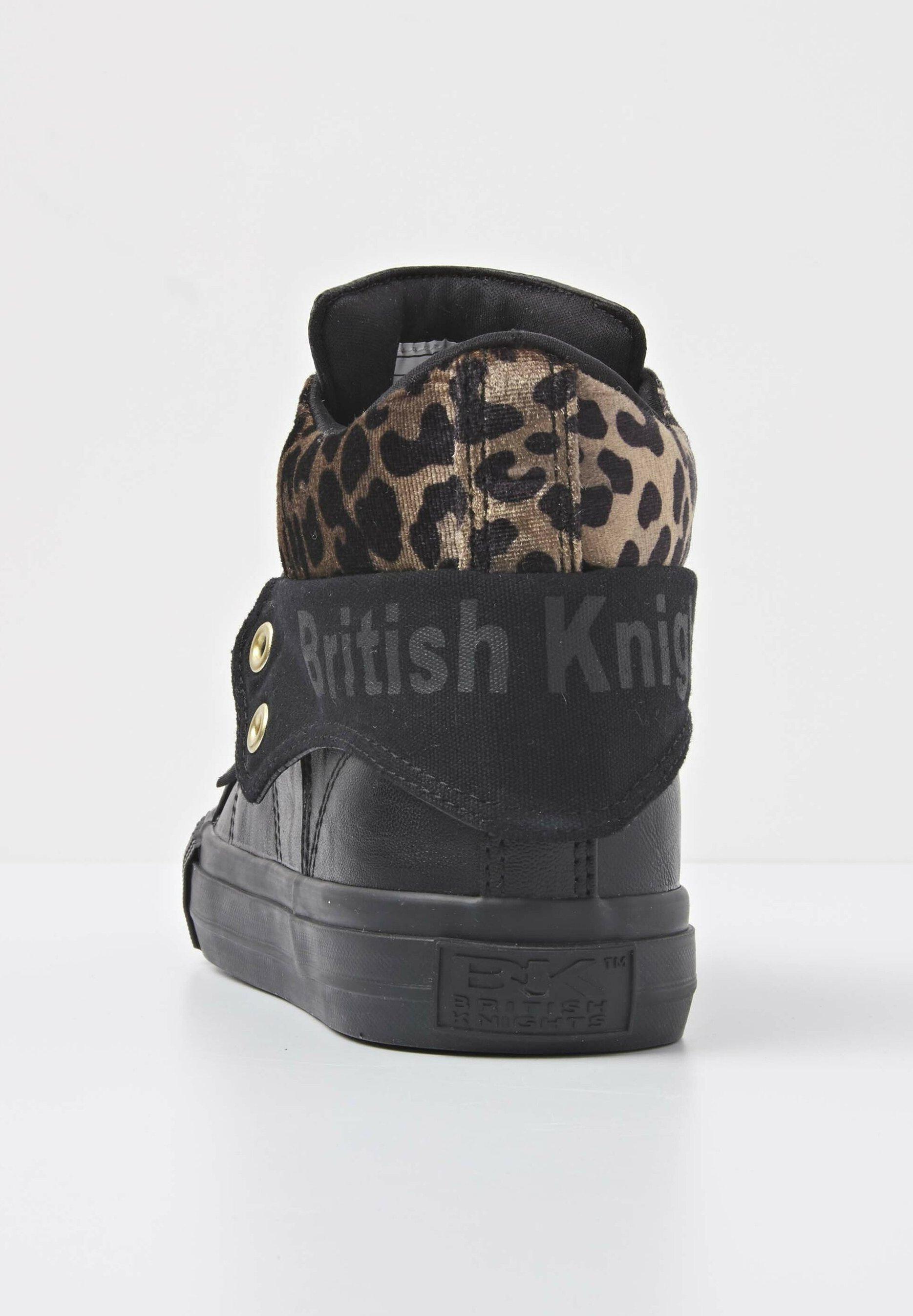 British Knights SNEAKER ROCO Sneaker high black/rust leopard/gold/black/schwarz