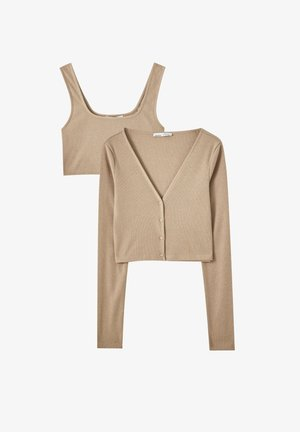 IM SET - Cardigan - nude