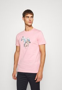 PS Paul Smith - SLIM FIT ZEBRA UNISEX - Print T-shirt - pink - 0