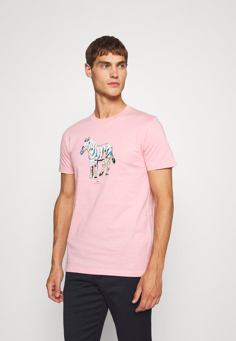 PS Paul Smith - SLIM FIT ZEBRA UNISEX - Print T-shirt - pink