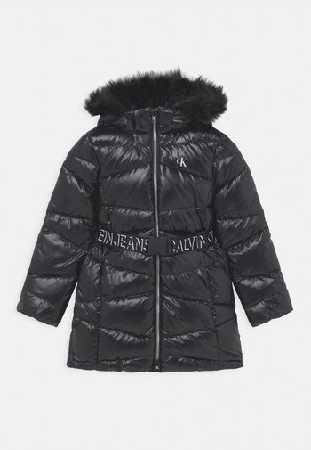 BELTED LONG COAT - Down coat - black