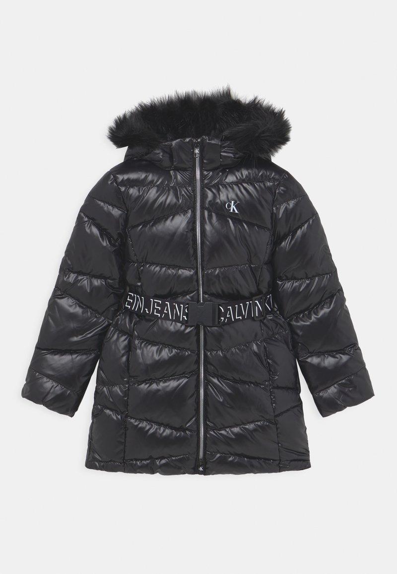 Calvin Klein Jeans - BELTED LONG COAT - Daunenmantel - black