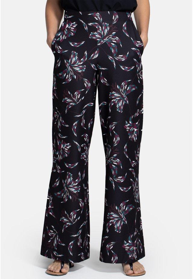 Trousers - damson mosaic flower