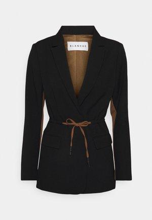 LORA LONG - Short coat - black