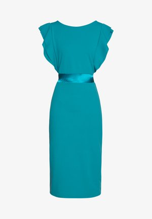 BAND FILL SLEEVE MIDI DRESS - Cocktailkjoler / festkjoler - teal blue