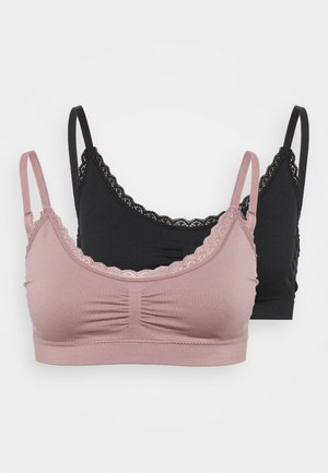 2 PACK - Alustoppi - black/pink