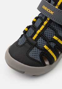 Geox - JR KYLE - Walking sandals - grey/yellow - 5