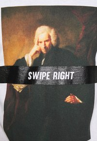 New Look - SWIPE RIGHT TEE - T-Shirt print - white - 5