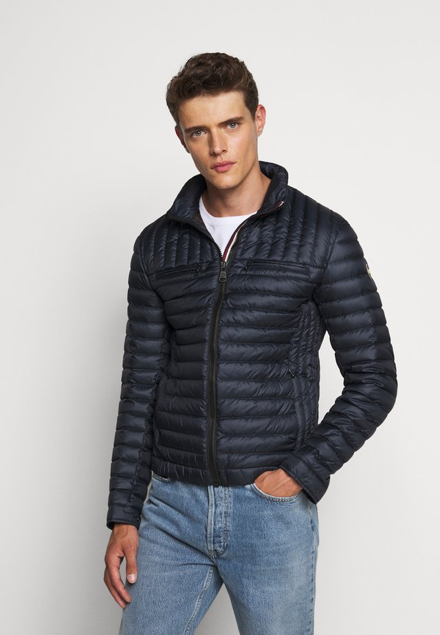 MENS JACKET - Gewatteerde jas - navy blue/coffee