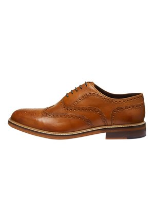 BLACK SIGNATURE BROGUE SHOES - Smart lace-ups - brown