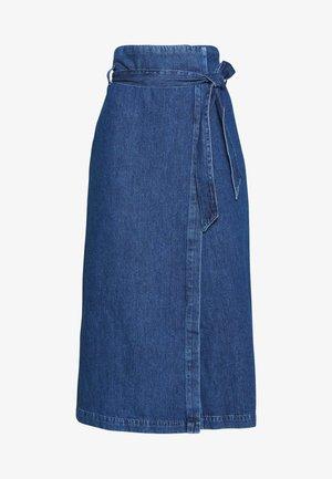 SLFDEMINA SKIRT  - Áčková sukně - dark blue denim