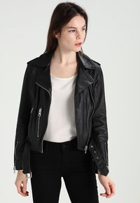 AllSaints - BALFERN BIKER - Leather jacket - black - 0