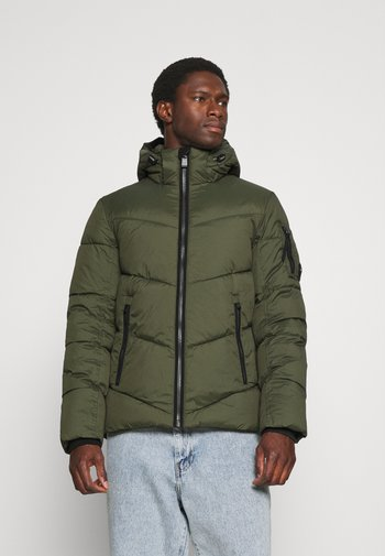 CASUAL PUFFER JACKET - Winter jacket - olive night green