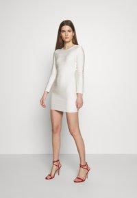 Hervé Léger - ICON LONG SLEEVE DRESS - Shift dress - alabaster - 1
