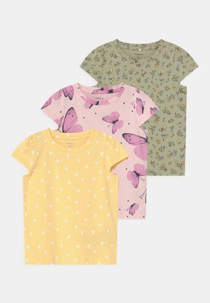 NBFSONYA 3 PACK - T-shirt print - desert sage