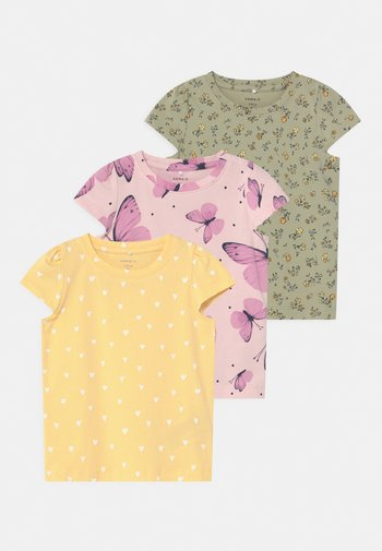 NBFSONYA 3 PACK - Print T-shirt - desert sage