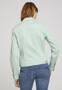 TOM TAILOR - MIT KNITTERDETAILS - Denim jacket - minty green - 2