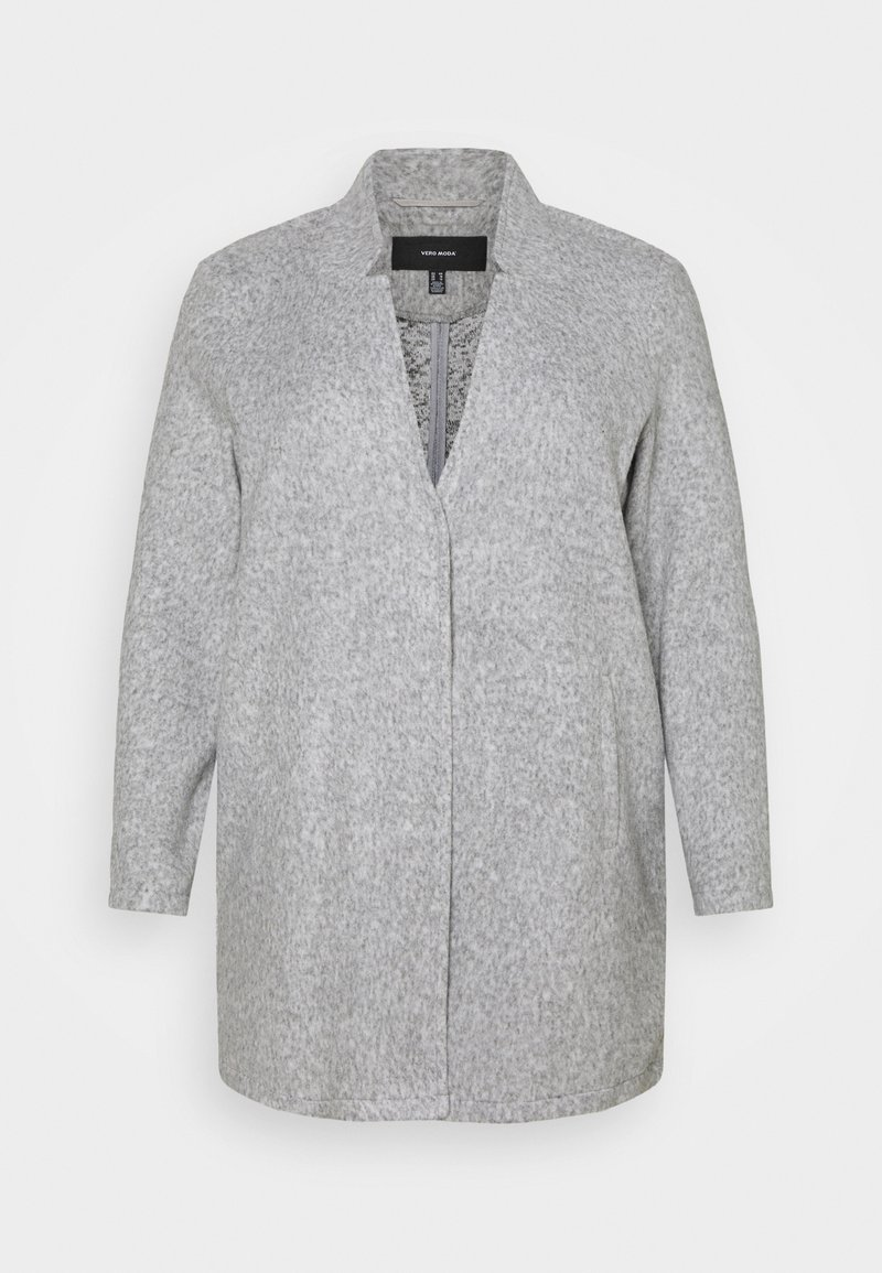 Vero Moda Curve - VMBRUSHEDKATRINE JACKET - Short coat - light grey melange