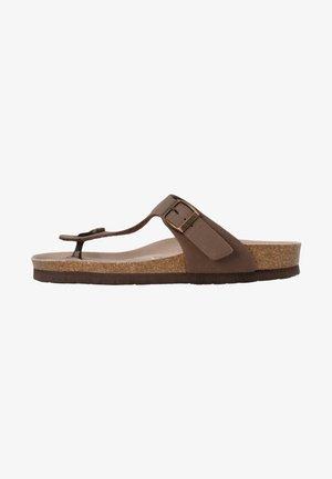 T-bar sandals - braun