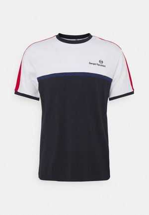 NOLWEN - T-shirt con stampa - white/blue