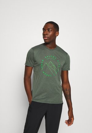 ALTA VIA DRY TEE - Print T-shirt - deep forest melange