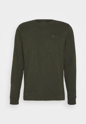 POCKET - T-shirt z nadrukiem - serpico green