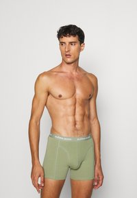 Björn Borg - SHORTS SAMMY SEASONAL SOLIDS 5 PACK - Underkläder - oil green - 2