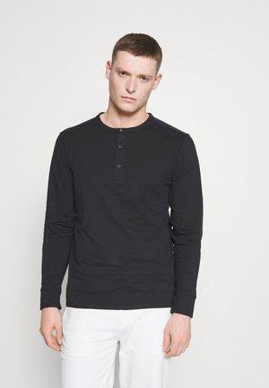 SLHBAKER SPLIT NECK TEE  - Top sdlouhým rukávem - black